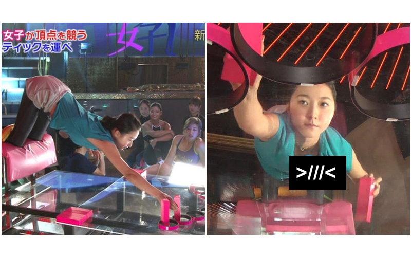 日本體操妖精「畠山愛理」上節目 ..一個彎腰「小草莓」滑出見客!觀眾:噴鼻血了(圖)